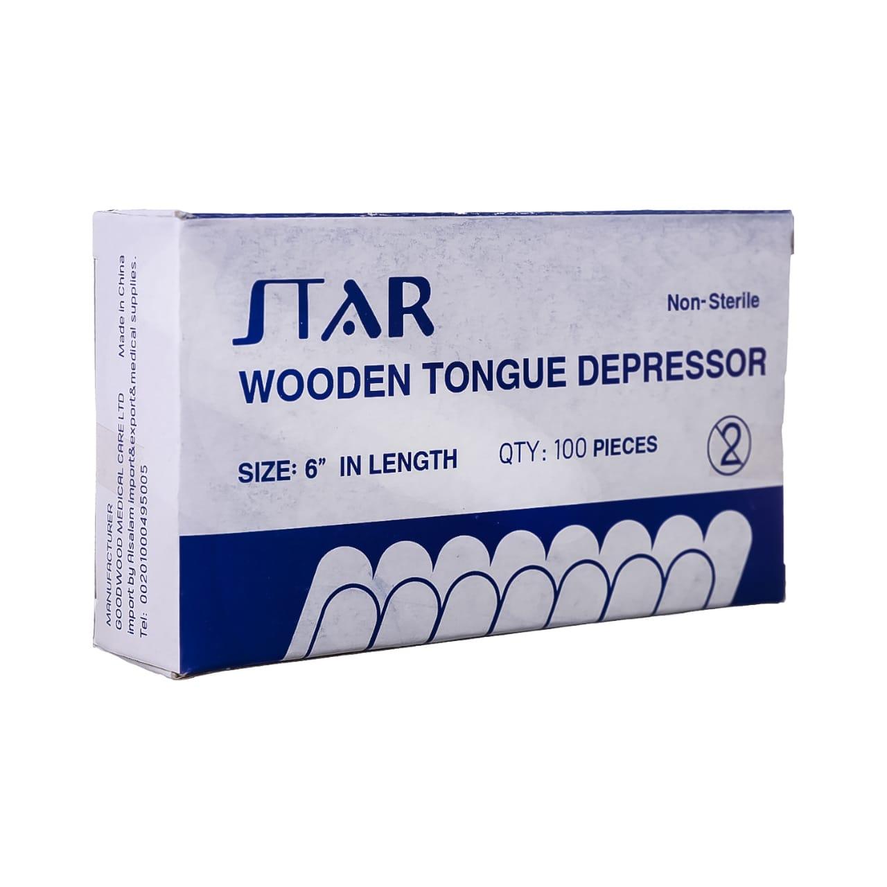 Wooden tongue depressor (Star)