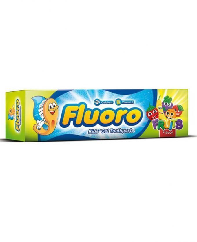 Fluoro Kids' gel toothpaste fruits